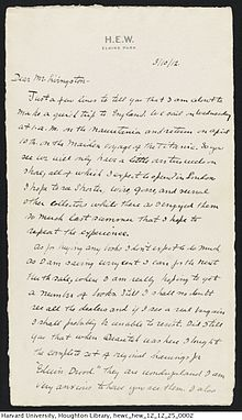 Harry elkins widener wikivisually letter to a friend we return on april 10th on the maiden voyage of the titanic fandeluxe Choice Image