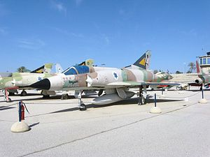 Avraham Lanir - Mirage (1)58, bearing 13 kill markings, at the Israeli Air Force Museum in Hatzerim. Lanir was flying this aircraft when he scored his third, and the aircraft's tenth, kill on October 12, 1973
