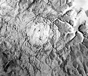 Haughton impact crater - Image: Haughton impact crater radar image