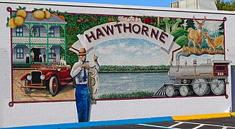 Hawthorne, Florida - Mural depicting Hawthorne's history