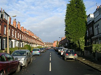 Headingley - Terrace houses typical of the southern districts of Headingley.