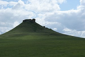 Grant County, North Dakota - Heart Butte is a prominent geographic feature in Grant County, and the namesake for the nearby Heart Butte Dam.