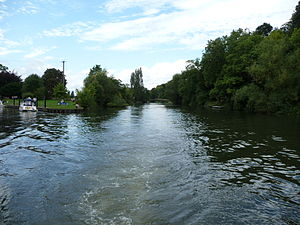Hedsor Water - The south end of Hedsor Water, Cookham Lock cut is to the left