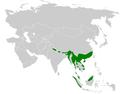 Hemixos distribution map.png