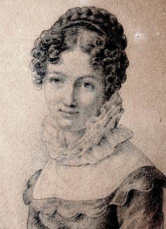Henriette Wegner - Henriette Seyler, drawn by her sister Molly in 1822, aged 17