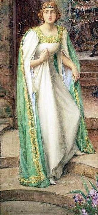 Elaine of Astolat - Henry Meynell Rheam's The Lady of Shalott