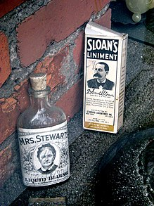 Liniment wikipedia sloans liniment at right was once a popular over the counter drug store item mightylinksfo