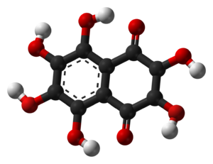 Hexahydroxy-1,4-naphthalenedione - Image: Hexahydroxynaphthoqu inone 3D balls