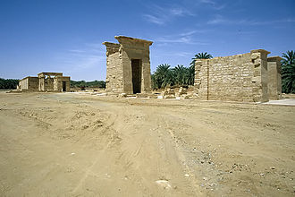 Temple of Hibis - The hallway with pylons, leading to the hypostyle hall