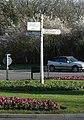 Highcliffe, Milestone Roundabout signpost - geograph.org.uk - 710456.jpg