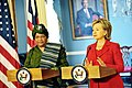 Hillary Clinton meets with Liberian President Ellen Johnson-Sirleaf, April 2009-1.jpg