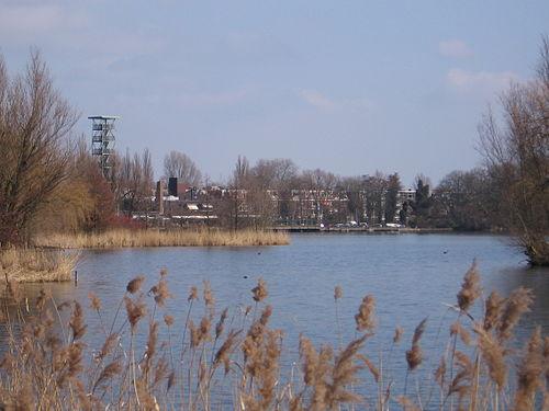 De uitkijktoren.Hij is niet meer opengesteld voor publiek