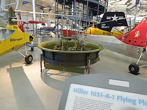 Hiller VZ-1 Pawnee - Image: Hiller Flying Platform Udvar Hazy Center