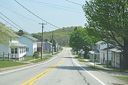 Pennsylvania Route 286 in Hillsdale
