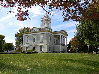 Morganton Downtown Historic District - Old Burke County Courthouse in the district