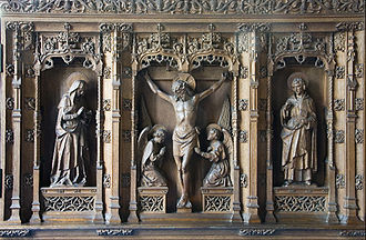 Nathaniel Hitch - Reredos in Gresford Church near Wrexham, by Nathaniel Hitch