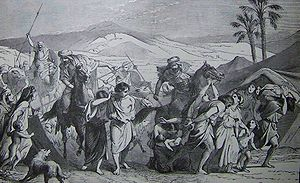 Bechukotai - Israelites Carried Captive (illustration from the 1890 Holman Bible)