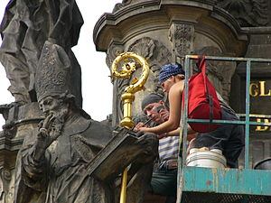 Conservation-restoration of cultural heritage - Revision and conservation of the Holy Trinity Column in Olomouc (Czech Republic) in 2006.