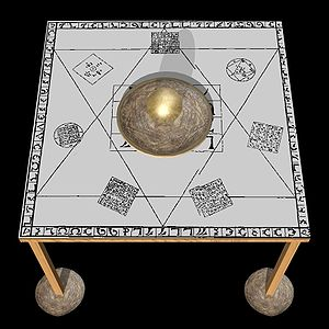 "Occult - Reconstruction of the ""Holy Table"" as used by John Dee"