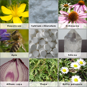 English: Image: homeopathic substance (new ver...
