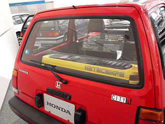 Honda City (AA) - Motocompo in the trunk of an early City R