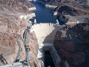 Low-carbon power - The Hoover Dam when completed in 1936 was both the world's largest electric-power generating station and the world's largest concrete structure.