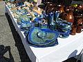 Hrnčířské trhy Beroun 2011, modrá keramika.JPG