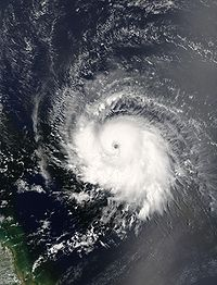 Ivan as a Category 3 hurricane east of the Windwards on September 5, 2004.