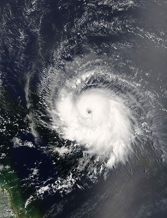 Hurricane Ivan - Ivan as a Category 3 hurricane, east of the Windwards on September 5, 2004.