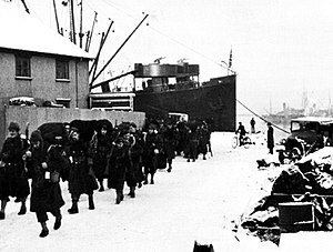 Iceland Base Command - US Army Troops Arriving in Reykjavik January 1942