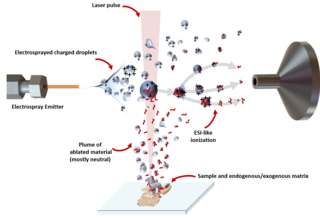 Matrix-assisted laser desorption electrospray ionization