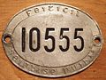 IRELAND -OVAL TAXI LICENSE, SUPPLEMENTAL PLATE - Flickr - woody1778a.jpg