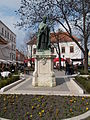 IX. Pope Innocent (Giovanni Antonio Facchinetti) statue. Know as the 'Savior of Hungary' - András Hess Square. Castle District, Budapest.JPG