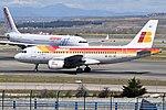 Iberia, Airbus A319-111, EC-JEI - MAD (19074696864).jpg