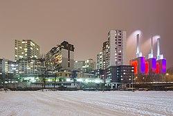Ihme-Zentrum apartment complex Ihme river Linden-Mitte Hannover Germany 07.jpg
