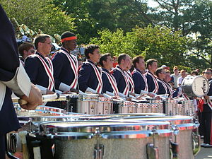 Baldric - The Marching Illini Drumline with double baldrics