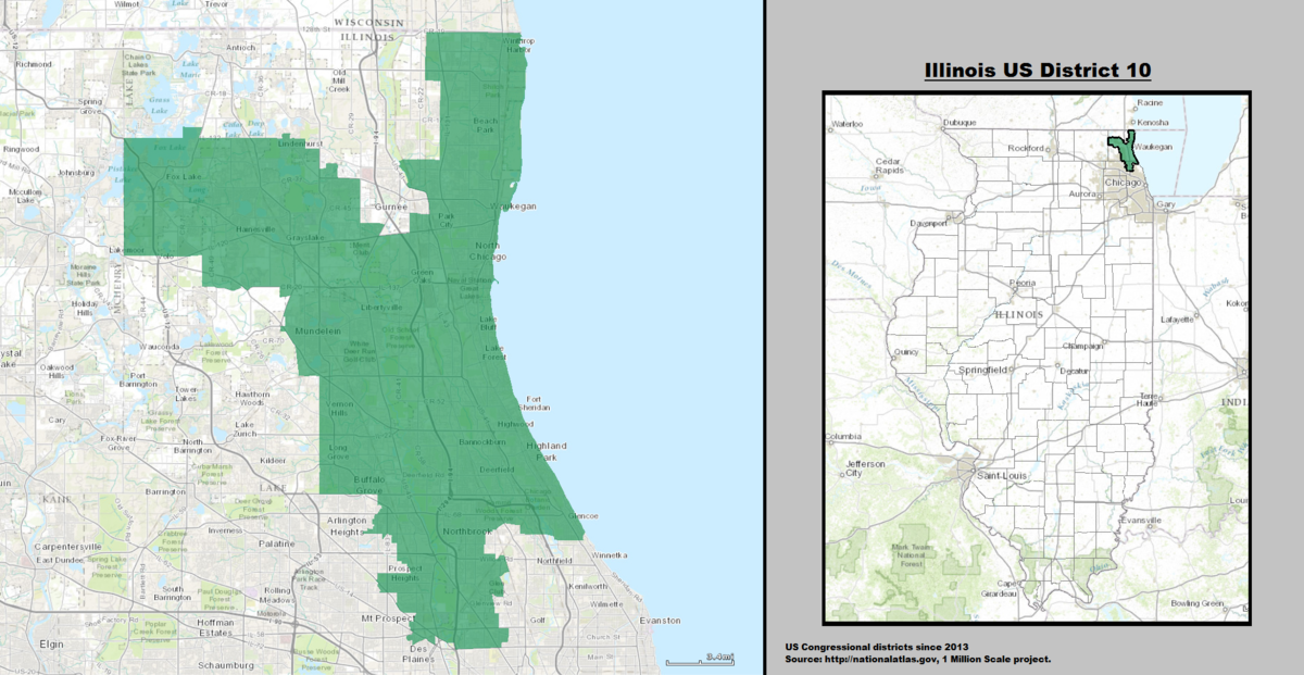 Illinoiss Th Congressional District Wikipedia - Map of illinois us house of representatives districts