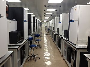 Illumina Hiseq 2000 sequencers, BGI Hong Kong sequencing room.JPG