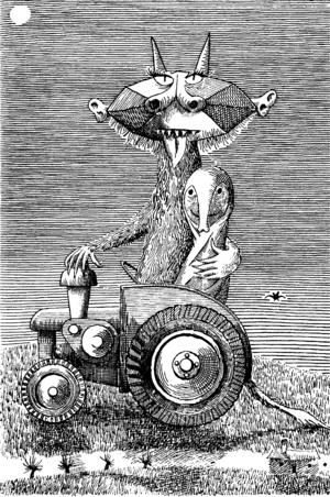 "Daniel Mroz's illustration for Slawomir Mrozek's book ""Slon"" (The Elephant"")"