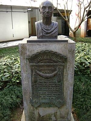 Immanuel Kant - Kant statue in Belo Horizonte, Brazil
