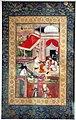 India, periodo moghul, miniatura con scena cortese, 1610 ca. 01.jpg