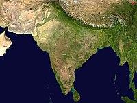 Carte géographique de l'Inde.