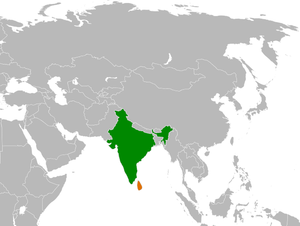 Locator map showing India and Sri Lanka