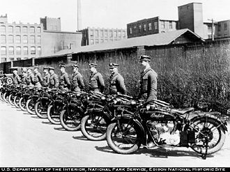 Indian Motocycle Manufacturing Company - Indian Scouts in police service, 1920s