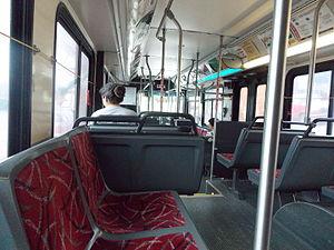 Blacksburg Transit - Inside a bus of Blacksburg Transit, Blacksburg, Virginia