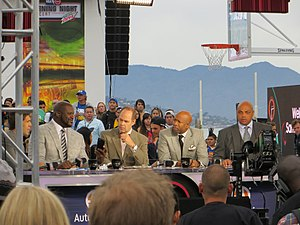 Kenny Smith - The Inside the NBA on TNT crew in 2015