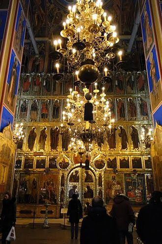 Suzdal Kremlin - Image: Interior view of the Cathedral of the Nativity