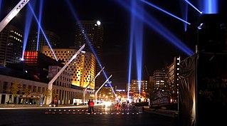 Quartier des spectacles Neighbourhood in Montreal, Quebec, Canada