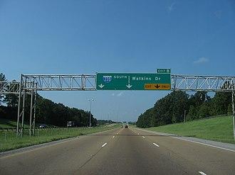 Interstate 220 (Mississippi) - I-220 at Watkins Drive