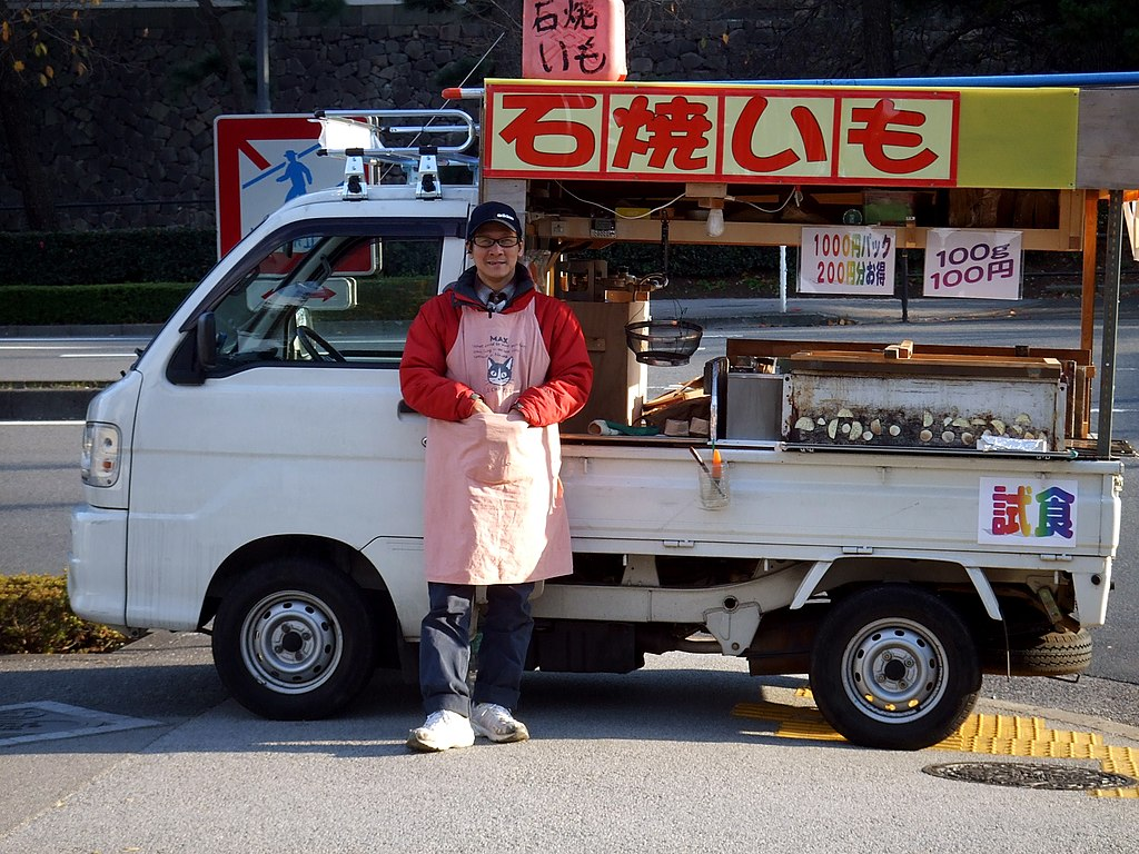 Ishi yakiimo truck by bitmask in Tokyo